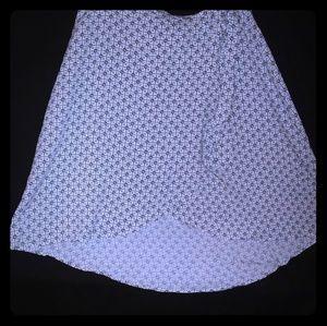 Wrap skirt side tie